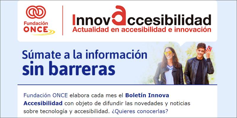 Boletín InnovAccesibilidad de Fundación ONCE