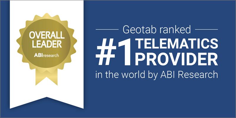 Geotab es nombrado de nuevo proveedor de telemática comercial número uno del mundo