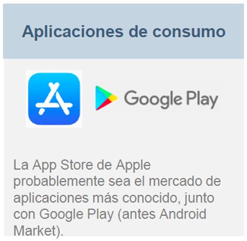Aplicaciones de consumo