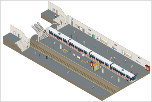 Vista del andén de la nueva estación 4.0.