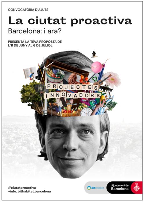 """Figura 5. Imagen de la campaña de comunicación del proyecto """"Barcelona: La ciudad proactiva""""."""