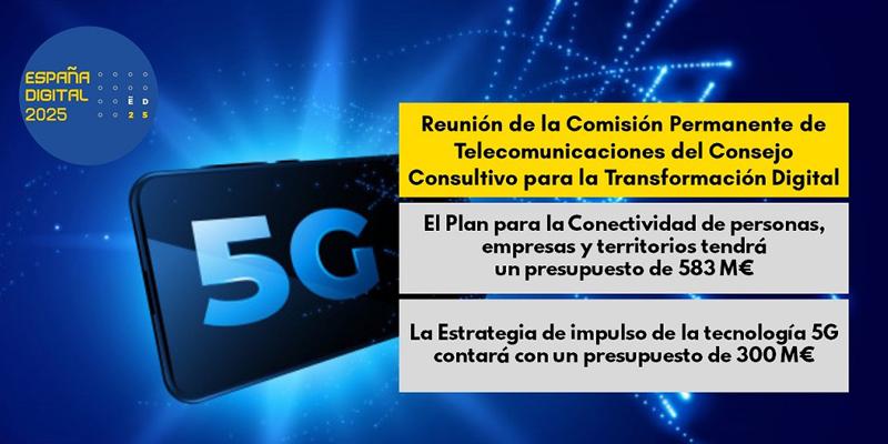 España invertirá 883 millones en conectividad y despliegue de tecnología 5G en 2021