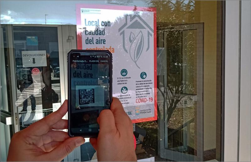 red de sensores para medir la calidad del aire y controlar los aforos en Ponferrada