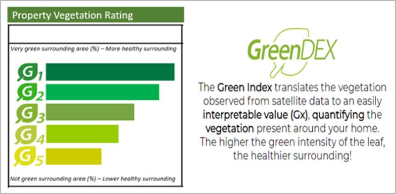 Indicador validado de Vegetación y rating asociado.