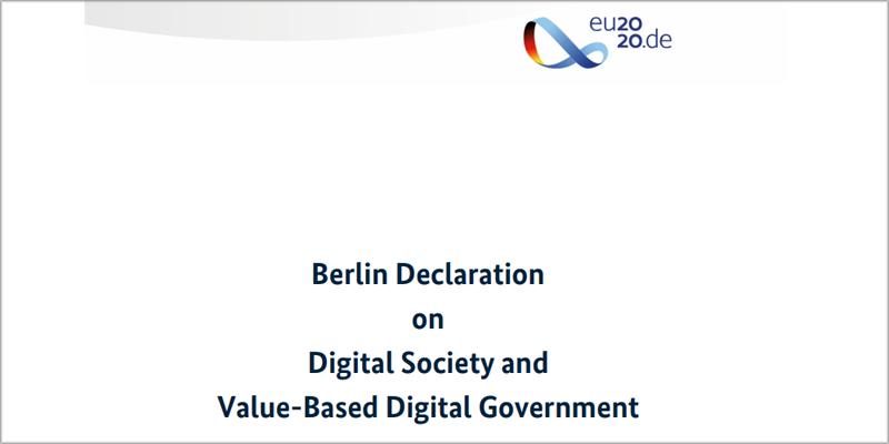 Los Estados miembros de la UE firman la Declaración de Berlín sobre sociedad y gobierno digital