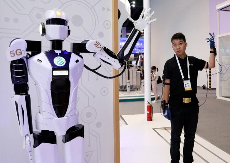 robótica y 5G en Shanghái