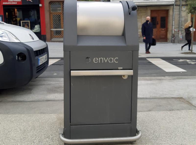 sistema de recogida neumática de residuos de Envac