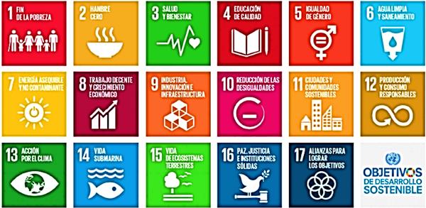 Figura 1. Lista de los 17 Objetivos de Desarrollo Sostenible (ODS). Agenda 2030 (ONU).