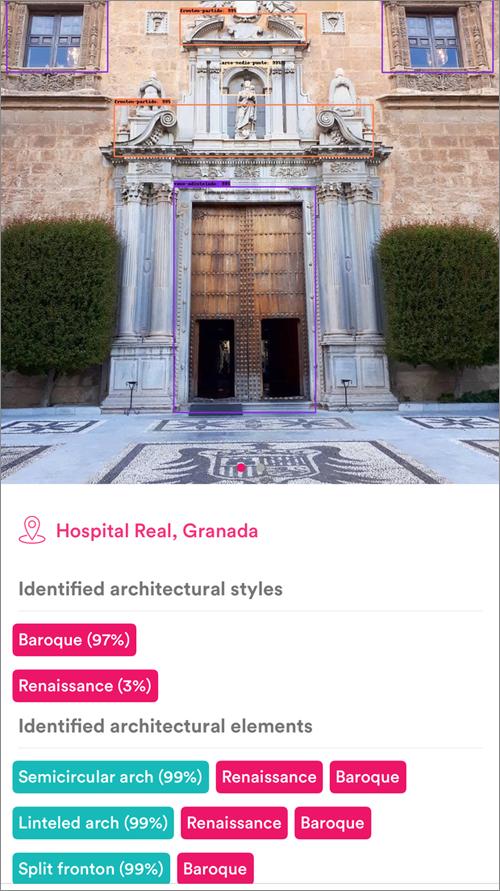 Hospital Real de Granada en la app MonuMAI