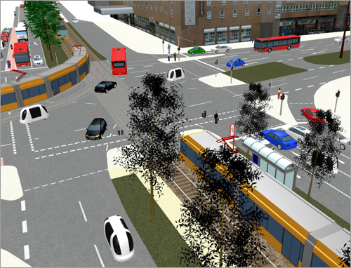 Vissim Simulation Environment