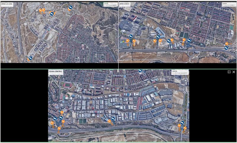Figura 4. Distribución de cámaras de contexto y LPR en el municipio.