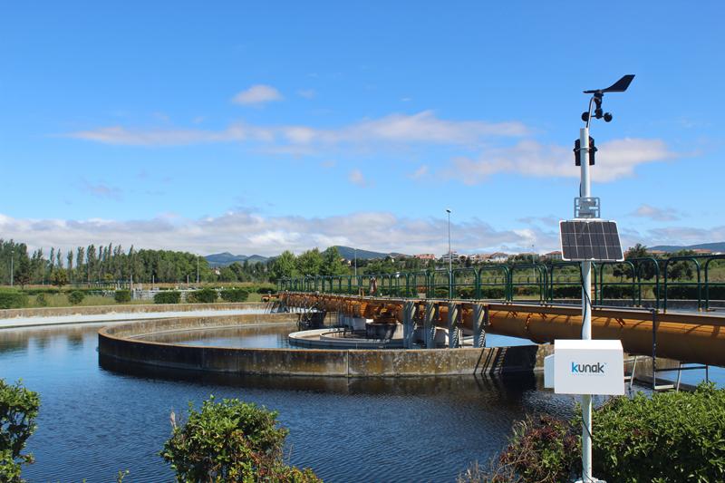 Kunak monitoriza las emisiones difusas en la depuradora de aguas residuales de Arazuri, en Navarra