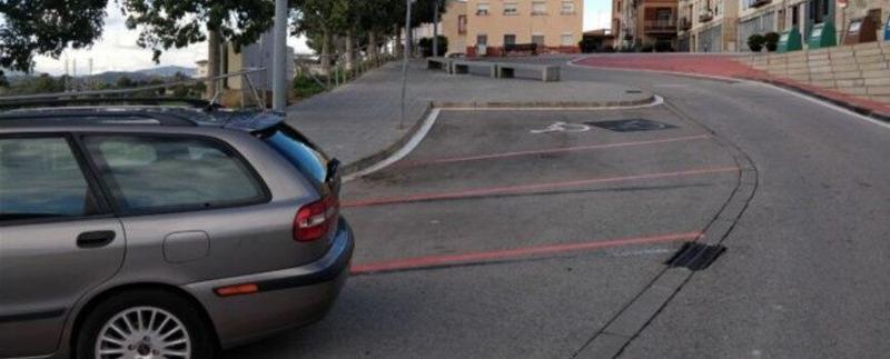 parking naranja Castellbisbal