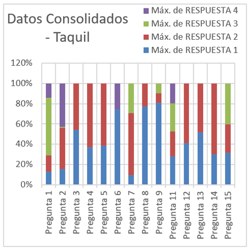 Datos consolidados encuesta – Taquil
