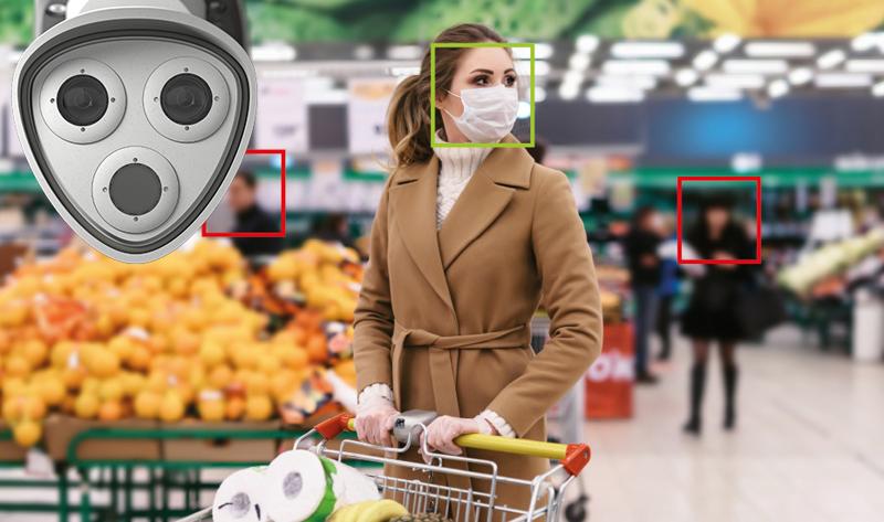 solución de Mobotix en un supermercado