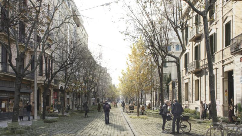 proyecto de eje verde Caminar desde el centro