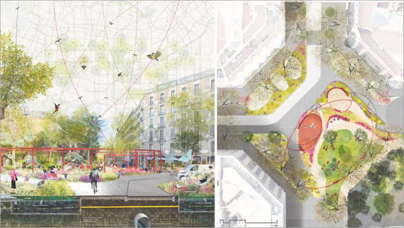 proyecto de plaza Jardín ILLA