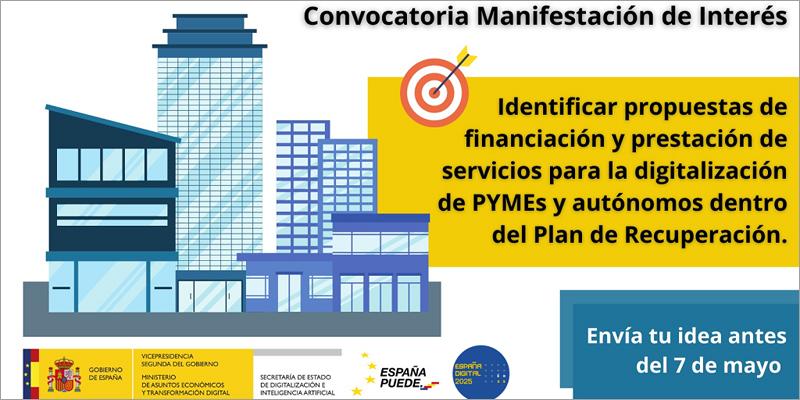 Consulta para identificar propuestas para la digitalización de pymes y autónomos