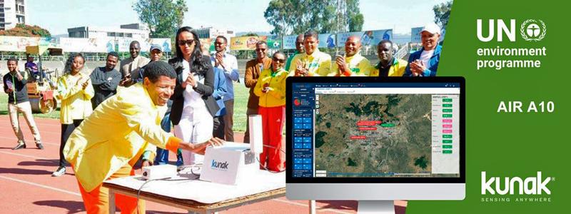 estaciones de calidad del aire Kunak AIR en Etiopía