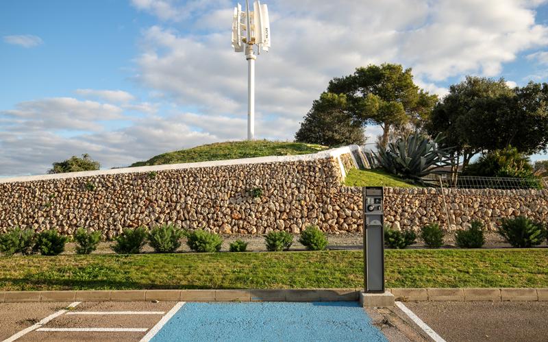 punto de recarga en Menorca