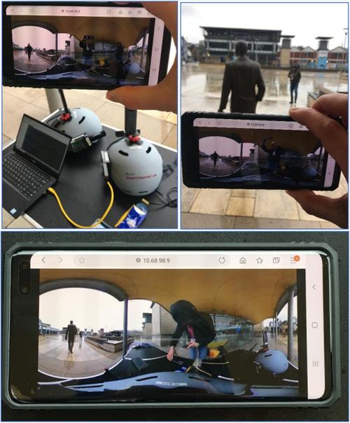 demostración de ciudad inteligente con tecnología 5G en Bristol
