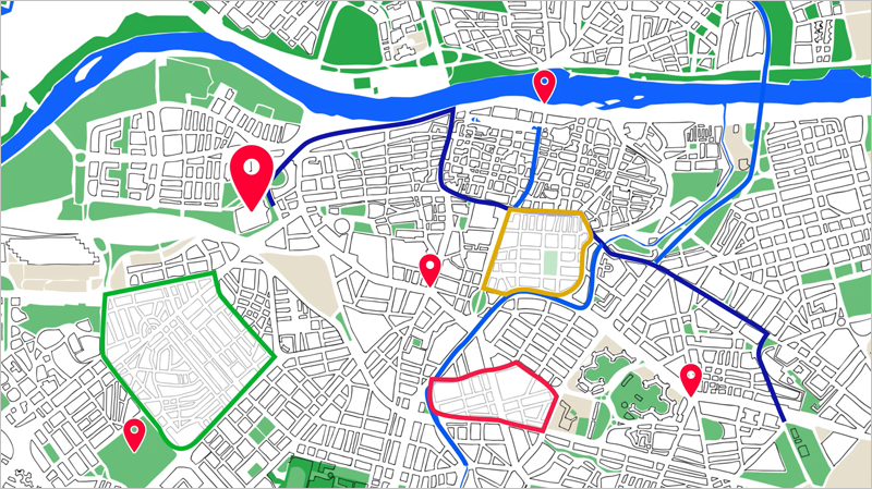 aplicación para diseñar mapas interactivos de Zaragoza