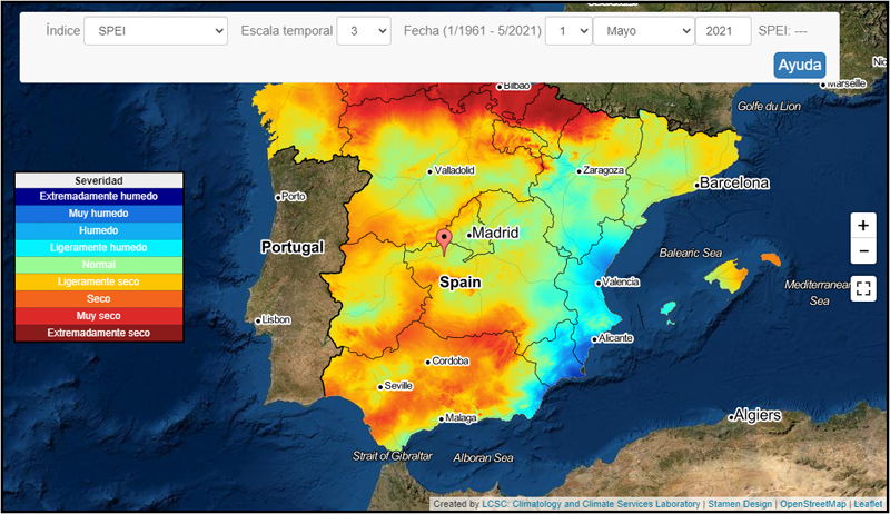 sistema de monitorización de sequías meteorológicas
