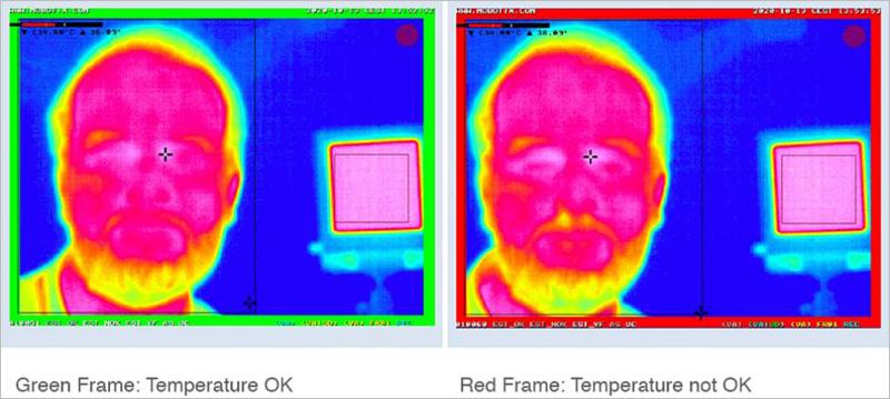 solución termográfica de Mobotix