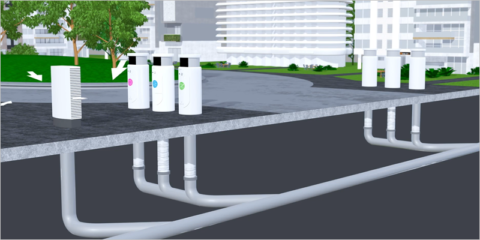 Sistema neumático de recogida de residuos de Envac