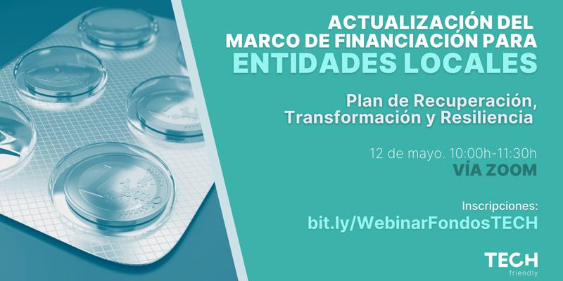 Webinar sobre oportunidades de financiación para entidades locales en el marco del Plan de Recuperación