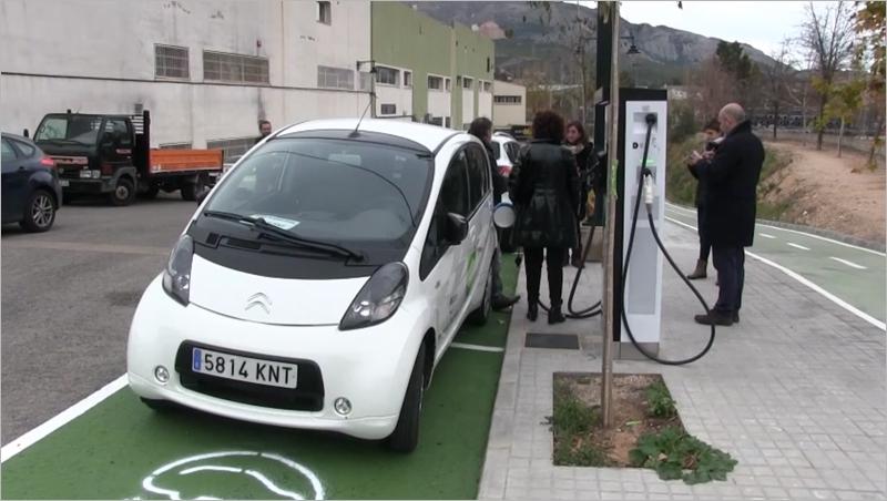 punto de recarga para vehículos eléctricos en Alcoy