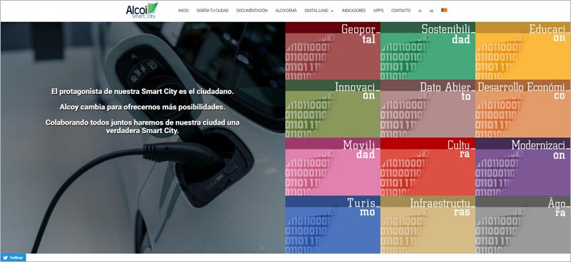 página web de Alcoy Smart City