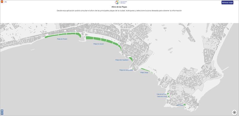 aplicación de playas de Salou