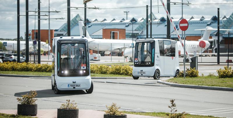 autobuses autónomos lanzadera para mejorar la conexión entre Tallin y el aeropuerto