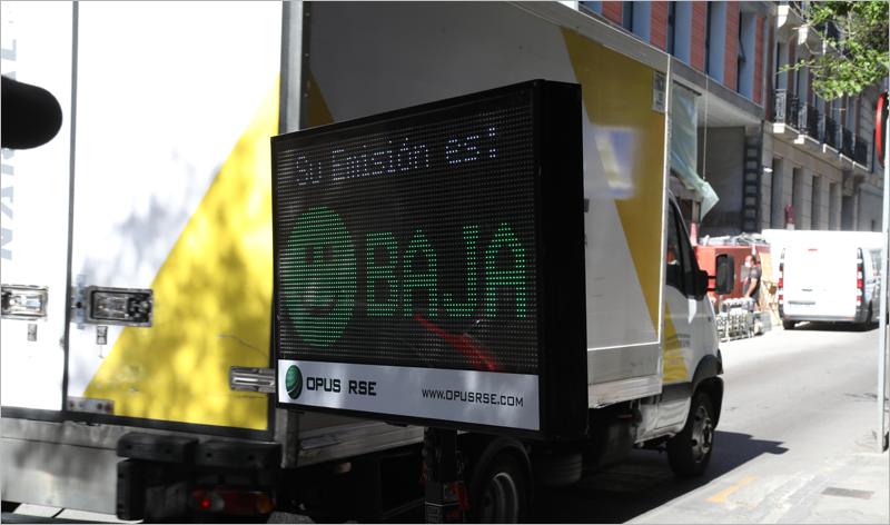 telecabina para medir las emisiones en tiempo real en Madrid