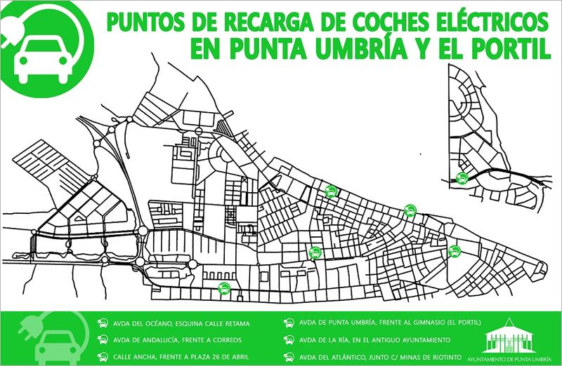 puntos de recarga de Punta Umbría en Huelva