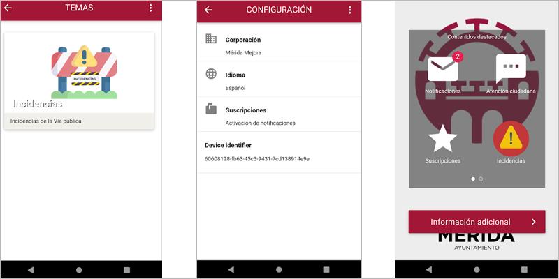 La sede electrónica de Mérida incorpora una app para comunicar en tiempo real incidencias en la ciudad