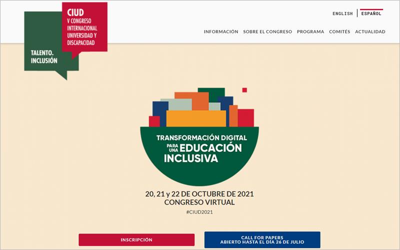 V Congreso Internacional Universidad y Discapacidad