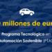 El CDTI lanza la convocatoria de ayudas del Programa Tecnológico de Automoción Sostenible