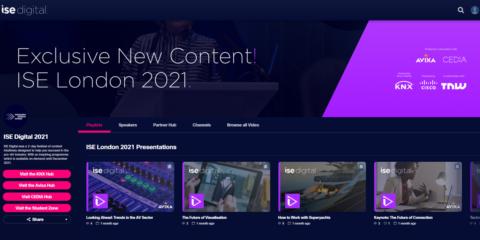 La plataforma online ISE Digital ofrece los contenidos del evento de Londres hasta finales de 2021