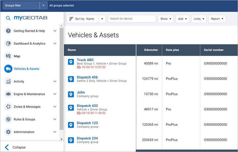 Nuevo diseño y experiencia optimizada de la interfaz de usuario de MyGeotab