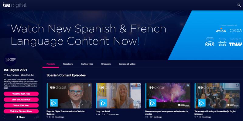 La plataforma ISE Digital incorpora nuevos vídeos en español del evento de Barcelona