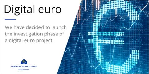 El Banco Central Europeo inicia la fase de investigación del proyecto de euro digital
