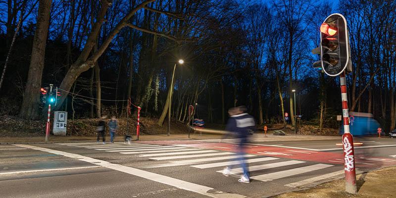 paso de peatones del parque urbano Bois de la Cambre en Bruselas
