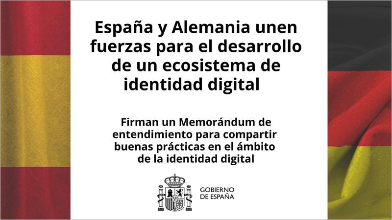 España y Alemania firman un Memorándum de Entendimiento en materia de identidad digital