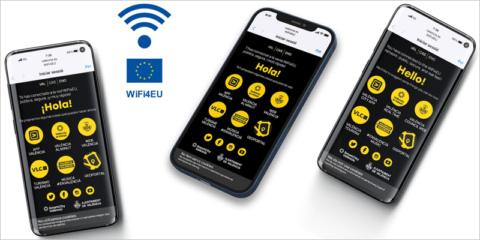 La ciudad de Valencia estrena un portal de acceso a la red gratuita europea WIFI4EU