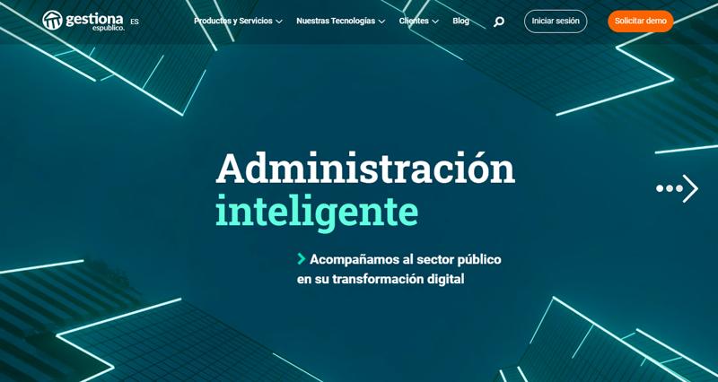 nueva página web de Gestiona