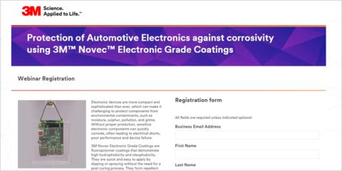 Webinar sobre los revestimientos 3M Novec para proteger la electrónica de automoción ante la corrosión
