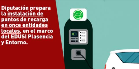 La Diputación de Cáceres instalará 11 puntos de recarga de vehículos eléctricos en el entorno de Plasencia