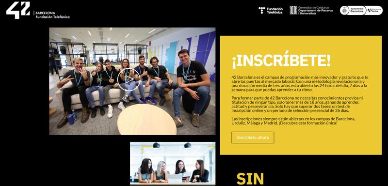 Abiertas las inscripciones para el campus 42 Barcelona que formará a los futuros programadores